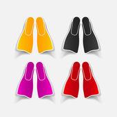 Realistic design element: flipper — Stock Vector