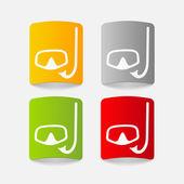 Realistic design element: diving — Stock Vector
