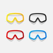 現実的な設計要素: マスク — ストックベクタ
