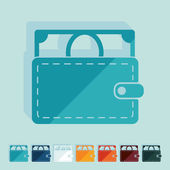 Flat design: purse — Stock Vector