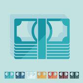 Flat design: money — Stock Vector