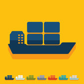 Flat design: ship — Stock Vector
