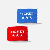 Realistic design element: ticket — Stock Vector