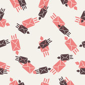 Seamless background: envelope — Stock Vector