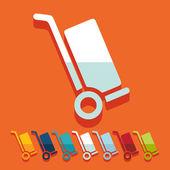 Płaska konstrukcja: wózek — Wektor stockowy