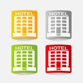 Realistic design element: hotel — Stock Vector