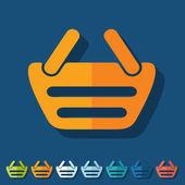 Flat design: basket — Stock Vector