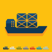 Flat design: ship — Stock Vector