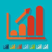 Flat design: chart — Stock Vector
