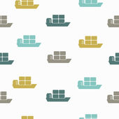 Seamless background: ship — Stock Vector