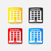 Realistic design element: hotel — Stock Vector