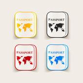 Realistic design element: passport — Stock Vector