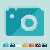 Flat design: photo — Stock Vector