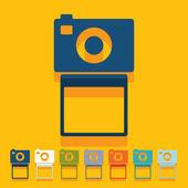 плоский дизайн: фото — Cтоковый вектор