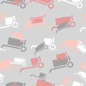 Seamless background: trolley — Stock Vector