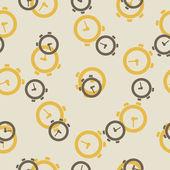 Seamless background: watch — Stockvector