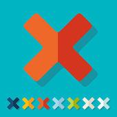 Flat design: cross — Stock Vector