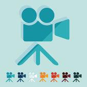Flat design: video — Stock Vector