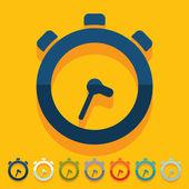 Flat design: watch — Vetorial Stock