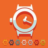Flat design: watch — Stockvektor
