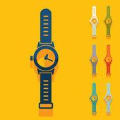 Flat design: watch — Stock vektor