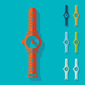 Flat design: watch — Stock Vector