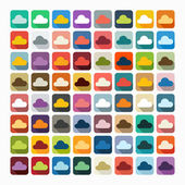 Flat design: cloud — Stock Vector