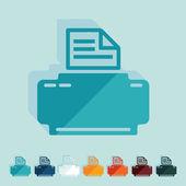 Flat design: typewriter — Stock Vector