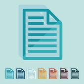 Flat design: paper — Stock Vector