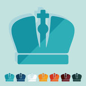 Flat design: crown — Stock Vector