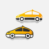 Realistic design element: taxi — Stock Vector