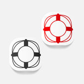 Realistic design element: lifebuoy — Stock Vector
