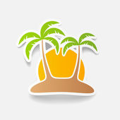 Realistic design element: palm — Stock Vector