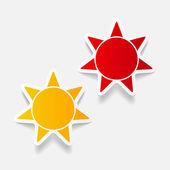 Realistic design element: sun — Stock Vector