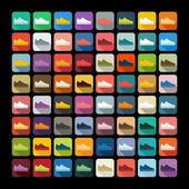 Flat design: sneakers — Stock Vector