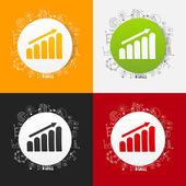 Drawing business formulas: chart — Stock Vector