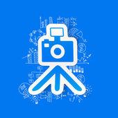 Zeichnung geschäft formeln: foto — Stockvektor