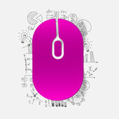 Drawing business formulas: mouse — Stock Vector