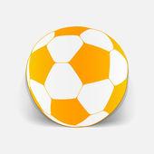 Realistic design element: ball — Stock Vector