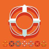 Flat design: lifebuoy — Stock Vector