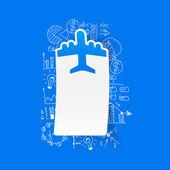 Drawing business formulas: plane — Stock vektor