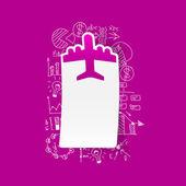 Formules d'affaires de dessin : avion — Vecteur