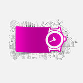 Drawing business formulas: watch — Stock Vector