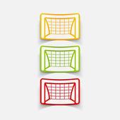 Realistic design element: gate — Stock Vector