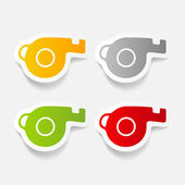 Whistles — Stock Vector