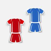 Football clothing — ストックベクタ