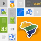 Football, soccer infographic — Stock Vector