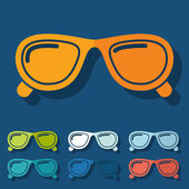 Flat design: sunglasses — Stock Vector