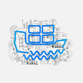 Drawing business formulas: ship — Stock Vector