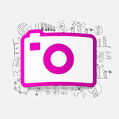 Drawing business formulas: photo — Vettoriale Stock